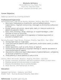 Sample Nursing Assistant Resume Entry Level Nursing Assistant Resume Englishor Com
