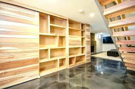 basement shelving ideas bar