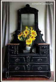 black painted furniturePainting Antique Vanity Black  Hometalk