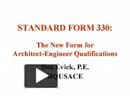 Ppt Standard Form 330 The New Form For Architectengineer