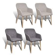 New <b>Fabric Dining</b> Chair Set with <b>Oak</b> Legs Foam-padded Stylish 2 ...