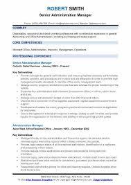 Admin Manager Cv Sample Administration Manager Resume Samples Qwikresume