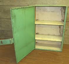 Antique Metal Dental Cabinet Green Metal Machinist Tool Box Wall Mount Cabinet Vintage