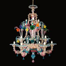 classic chandelier blown glass murano glass led kia ora