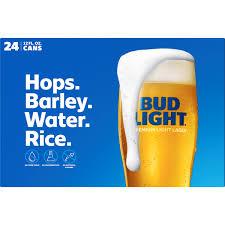 Bud Light Cards Bud Light Beer 24 Pack 12 Fl Oz Cans Walmart Com