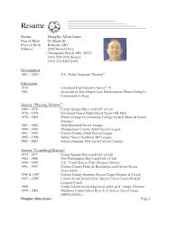 Amazing Sample Soccer Resume Photos Simple Resume Office