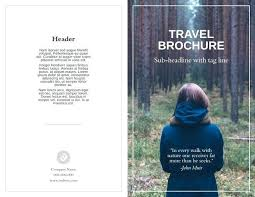 Free Brochure Templates For Students Andeshouse Co