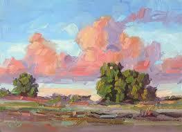 plein air oil painting by tom brown