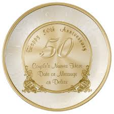 gift ideas for 50th wedding anniversary. customizable 50th wedding anniversary gifts plate gift ideas for 0