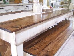 Plenteous Mahogany Neutral Veneer Farmhouse Table With White Base And Long Barn  Wood Benches As Inspiring Rustic Dining Sets Ideas