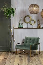 Stoel Geneve Velvet Olijf Groen Goud 1 Casa In 2019 Woonkamer