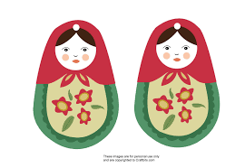 Matryoshka Russian Doll Ornament - Group Crafts - craftbits.com