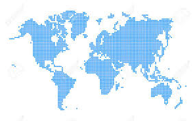 Map Of The World Background Blue World Map Dotted Style On White Background Vector Illustration