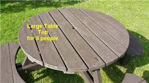 recycled plastic composite excalibur picnic table view 4
