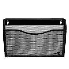 black hanging single pocket wall file