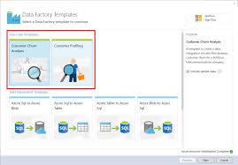 azure data factory samples microsoft docs data factory templates dialog box