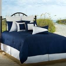 blue and white bedding set latitude navy blue white twin comforter set photo 1 blue and