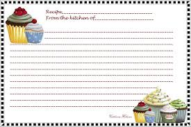 Index Card Recipe Template Free Printables Recipes Index Card Reply You Can Print