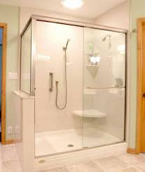 ... Large Size of Shower:shocking Walk In Shower With Bench Photos Design  Seat Designs Kit ...