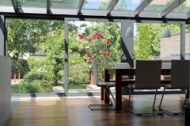 Slide those doors to bring garden blossoms in your dining area!  Architectural technician Sharon,