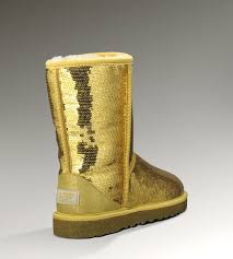 ... UGG Women Classic Short Sparkles 3161 Boots Gold ...