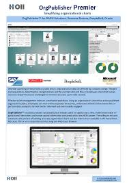 Peoplesoft Organizational Chart Orgpublisher Holl Consulting Brochure