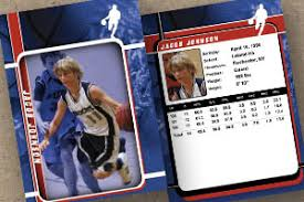 free trading card template sports custom trading cards