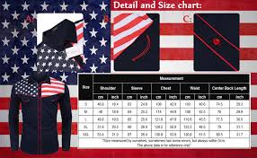 Flag Size Chart Coofandy Mens Casual American Flag Button Down Shirts Slim Fit Long Sleeve Shirt