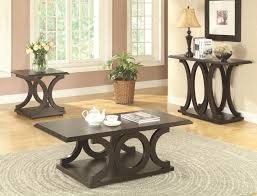 c shaped coffee table