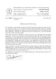 Recommendation Letter Prof G Sivakumar H O D Cfdvs Iit
