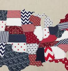 Best 25+ Map quilt ideas on Pinterest | Crafts with maps, How to ... & This stunning scrap map is a fabric map of the United States quilted on  high quality natural linen! Each state is a different piece combination or  red, ... Adamdwight.com