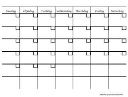 Monthly Calendar Printable Pdf Hashtag Bg