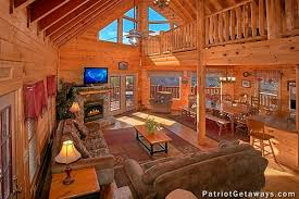 Log Cabin Living Room Impressive Tennessee Dreamer A Pigeon Forge Cabin Rental