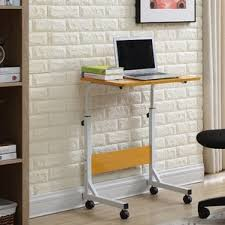 standing office table. blondene wood top standing desk office table t