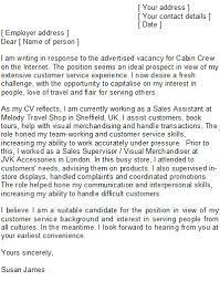 Sample Cover Letter For Cabin Crew Cabin Crew Cover Letter Sample