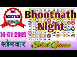 Bhutnath Chart 14 01 2019 Bhootnath Night Fix Jodi By Ds Matka Tricks