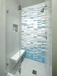 showers gl shower with bench built in tile