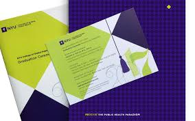 Graduation Program Invitation Designs Nyu Gph Graduation Invite Program On Behance