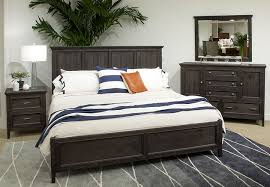magnussen mill river 3 piece king bed set weathered charcoal finish