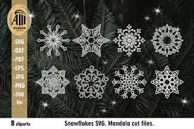 Icons are in line, flat, solid, colored outline, and other styles. Snowflakes Svg Christmas Snowflakes Mandala Svg 930358 Illustrations Design Bundles