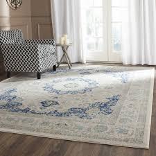 super blue and ivory rug safavieh evoke teale traditional area or runner com