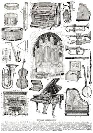 Musical Instruments Page Full Of Illustrations