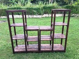 pallet shelves. wooden pallet and steel storage rack shelves