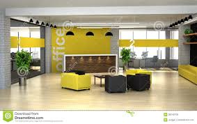 office reception interior. 3d Rendering An Interior Of The Office. Hall With Reception Office I
