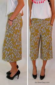 Culottes Pattern New Culottes Tutorial For Summer Time Glamour So Sew Easy
