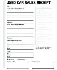 Auto Sales Reciept Used Car Sales Receipt Form Chakrii