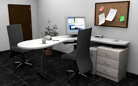 cheap office tables. Office, Black Swivel Chair And White L Shape Office Desk With Drawers: The Best Cheap Tables E