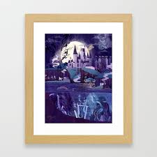the castle on the hill framed art print