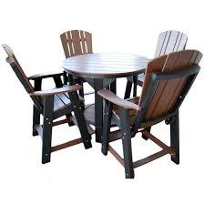 5 Piece Bar Table Set Wildridge Outdoor Balcony Pub Table Set Rocking Furniture