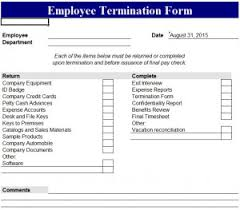 employee termination form template employee termination form my excel templates